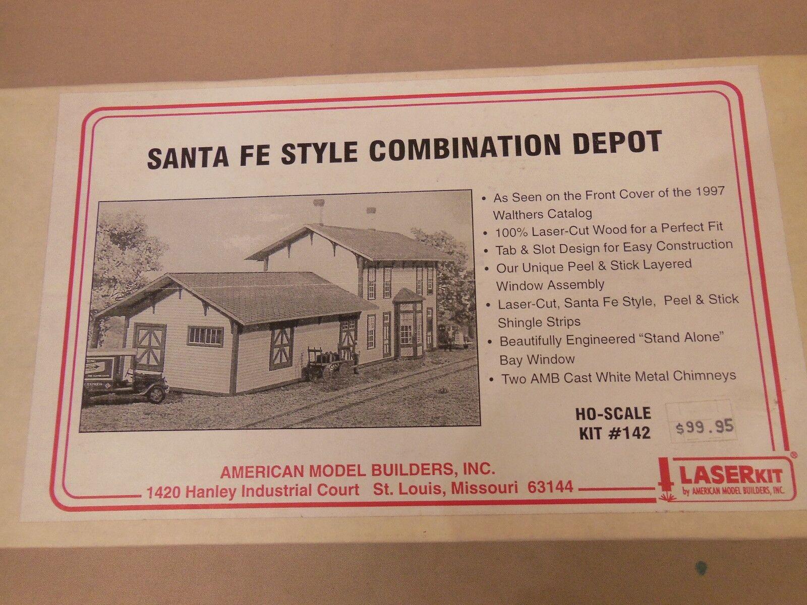Escala Ho Modelo Americano constructores Santa Primera Edición Estilo combinación Depot láser kit