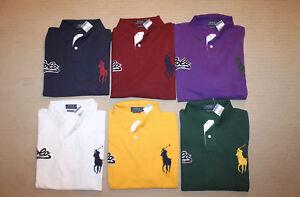 NEW-Polo-Ralph-Lauren-Big-Pony-Felt-Patch-Polo-Logo-Custom-Slim-Fit-Shirt