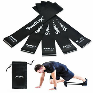 5pcs 5 Level Resistance Exercise Loop Bands Home Gym Fitness Latex Set uk