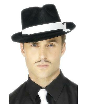 ADULT MENS 1920s AL CAPONE GANGSTER HAT - HALLOWEEN COSPLAY COSTUME