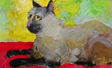 Alley Cat  2 : Original Painting Alexei Petrenko : Give Fine Art this Easter