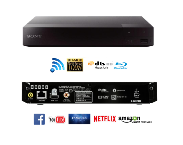 SONY BDP-S3700 BLU-RAY DVD PLAYER PAL/NTSC WI-FI FREE SHIPPING