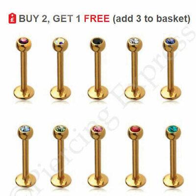 4 X BIOFLEX LIP BARS CHOSE LENGTH 6MM,8MM,10MM,12MM 3MM BALL END,1.2MM THICK