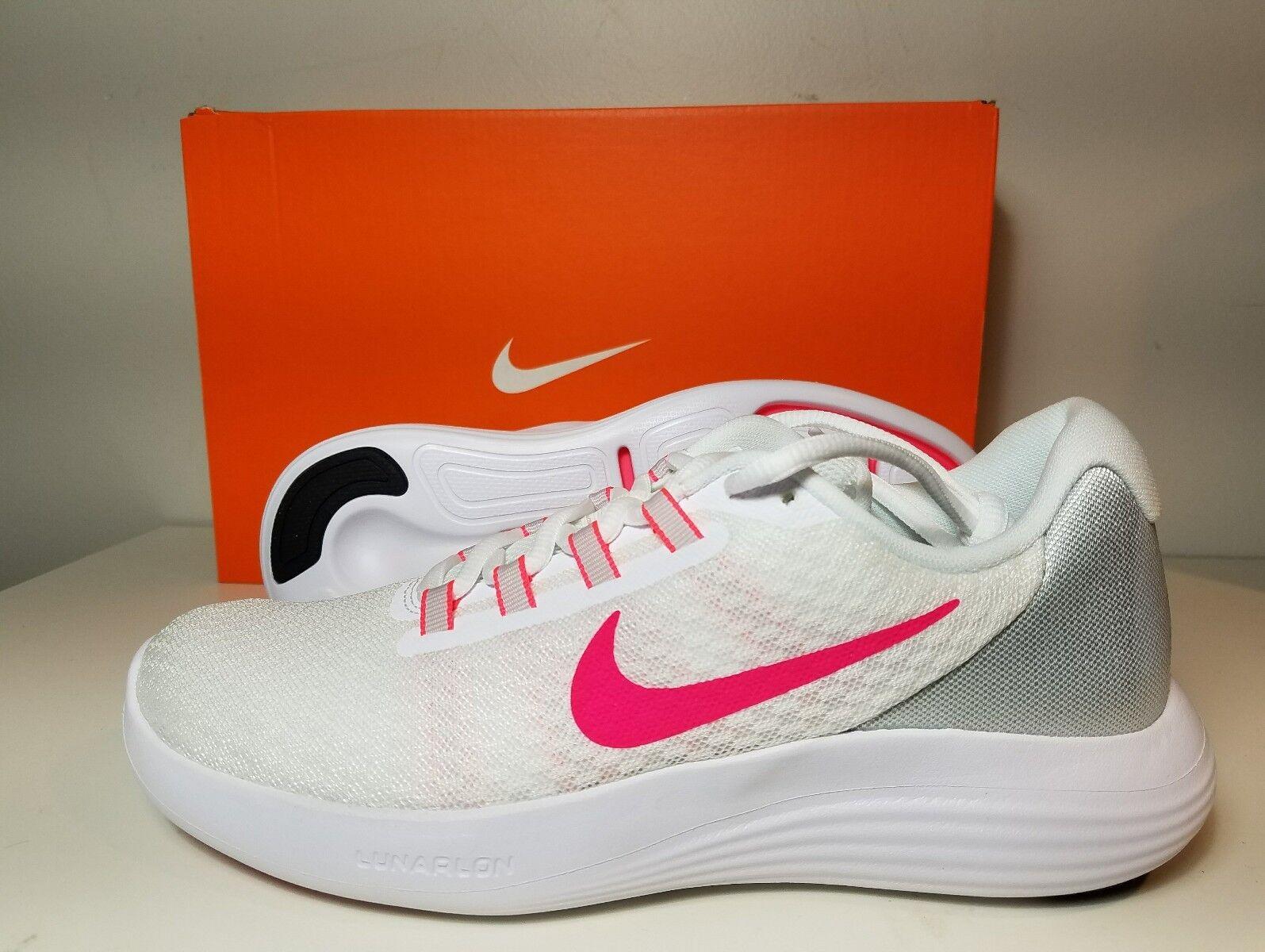 big sale c1ec2 95edd Nike Womens Lunarconverge Size 9.5 Running shoes White Racer Pink 852469 101
