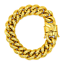 thumbnail 18 - Cuban-Link-Bracelet-18KT-Gold-Plated-Stainless-Steel-Open-Box-Clasp-Mens-Jewelry