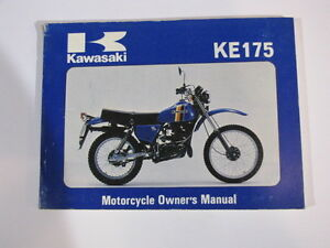 kawasaki ke175 ke175 d2 owner owner 039 s manual image is loading kawasaki ke175 ke175 d2 owner owner 039 s