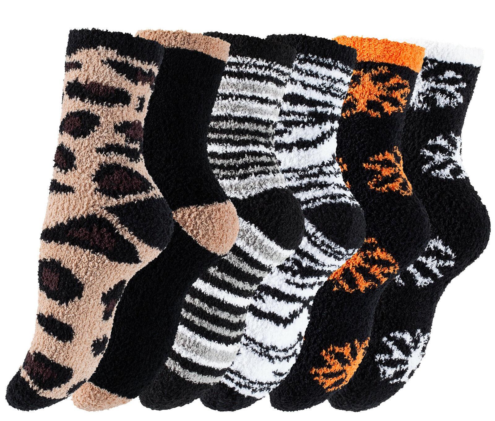 4 oder 8 Paar Kuschelsocken Bettsocken Flauschsocken Wintersocken Damen Socken