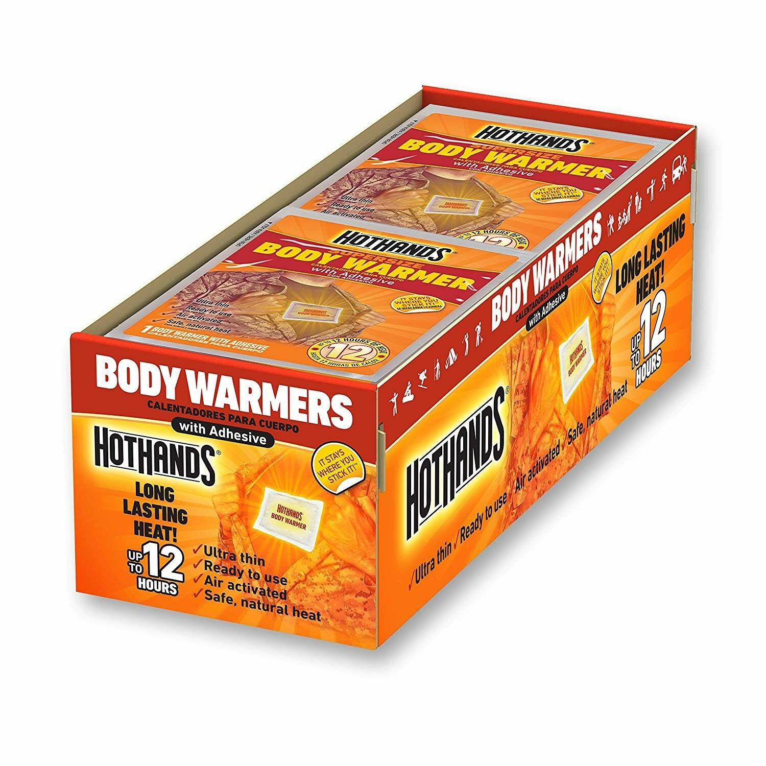 Hand Warmers 40 Piece Hot Hands Hunting Skiing Outdoor Sports Lasts to 10 Hrs