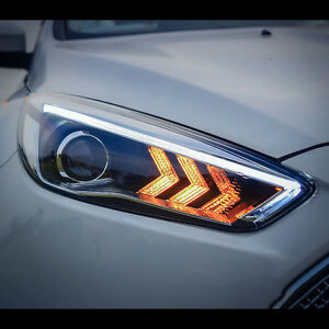 Mustang Style Led Projector Xenon Hid Headlights For Ford Focus 2015