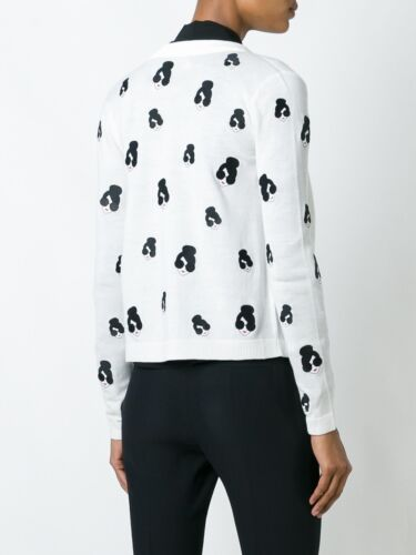 De Stacey Nwot Xs Pull Tricot Cardigan Alice Haut Taille Emoji En Blanc Laine Olivia 0HgxSnA