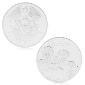Queen-British-Rock-Band-Silver-Commemorative-Coin-Token-Collectible-Gift