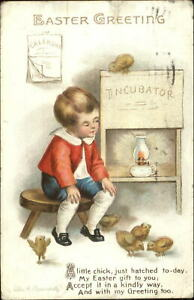 Easter-Child-Chick-Incubator-c1910-ELLEN-CLAPSADDLE-Postcard