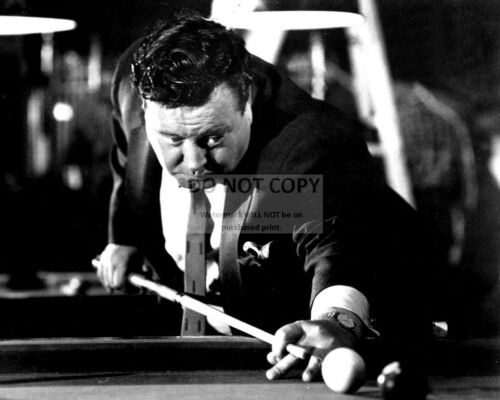 """BB-792 JACKIE GLEASON IN THE FILM /""""THE HUSTLER/"""" 8X10 PUBLICITY PHOTO"""