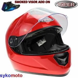 VIPER RS250 MOTORCYCLE HELMET FULLFACE BLUE ECE ACU APPROVED BIKER CRASH HELMET