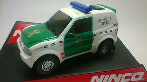 Slot-Car-Ninco-50643-Mitsubishi-Pajero-Guardia-Civil-Compatible-1-32-Scalextric