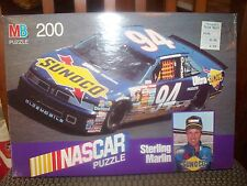 """MB 200 PIECE NASCAR """"STERLING MARLIN"""" PUZZLE"""