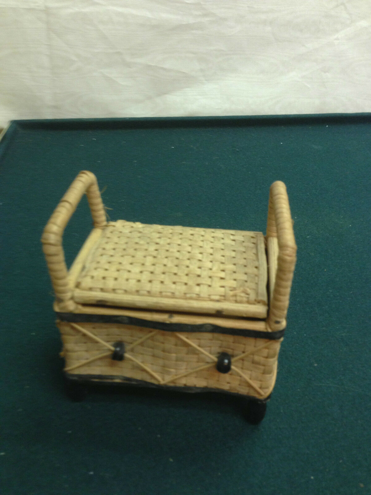 Phenomenal Woven W Bench Storage Miniature Dollhouse Cover Wood Germany Uwap Interior Chair Design Uwaporg