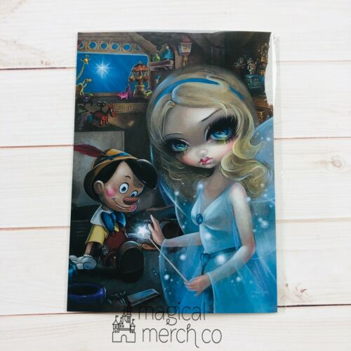 Disney Parks Postcard Jasmine Becket-Griffith Pinocchio And Blue Fairy