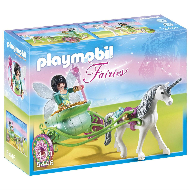 PLAYMOBIL - 5446 - Fairies - Fée papillon calèche et licorne - Neuf