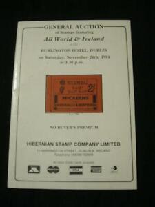 Simple Hibernian Auction Catalogue 1984 All World Et Irlande-afficher Le Titre D'origine