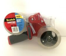 Scotch Heavy Duty Shipping Packaging Two Rolls Tape With One Tape Gun Dispenser