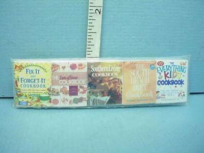 Miniature 5 Book Set Cook Books #2 #130 Novel Idea 1//12th