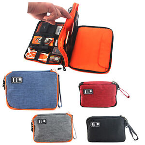 Universal-Double-layer-Travel-Cable-Organizer-Electronics-Accessories-Cases-M-L