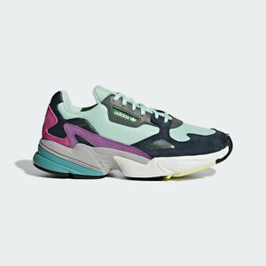 lowest price 8b7f1 a4083 Image is loading New-Adidas-Original-Womens-FALCON-CLEAR-MINT-NAVY-
