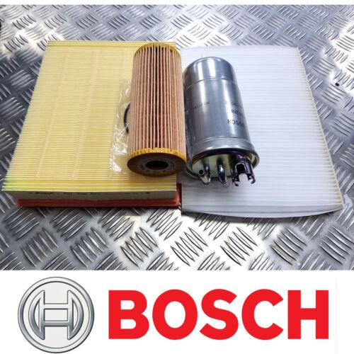 Bosch Kit De Servicio Para VW Passat 1.9 TDI 3B Filtros De Aire Aceite Cabina Combustible 2002-05