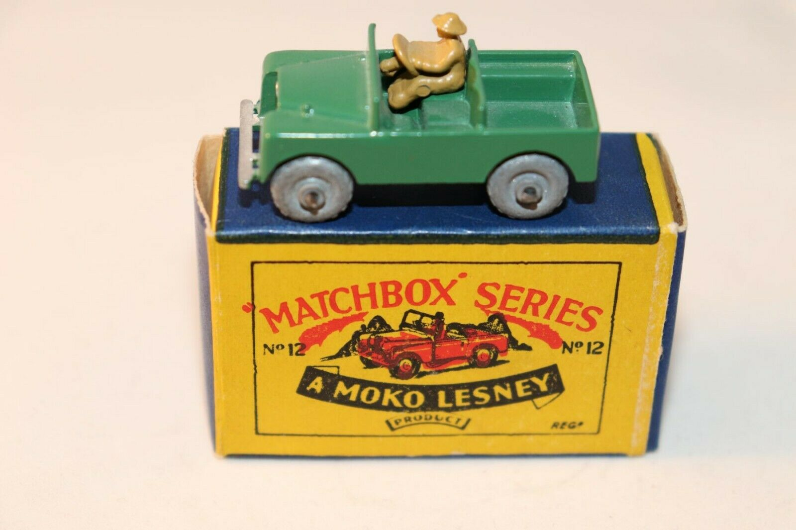 Matchbox Lesney No 12 land Rover GMW mint in a great box a beauty all original