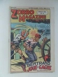 EDITION CHAPELLE /  ZORRO  MAGAZINE  /  NOUVELLE SERIE  NUM 4  /  1951