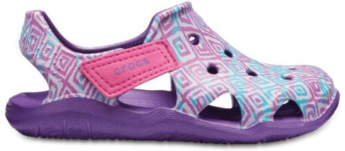 Crocs Kids Swiftwater Wave Boys Girls Croslite Lightweight Sandals
