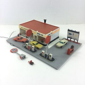 VINTAGE-TYCO-Built-Union-76-Gas-Station-AURORA-Building-Service-HO-Wired