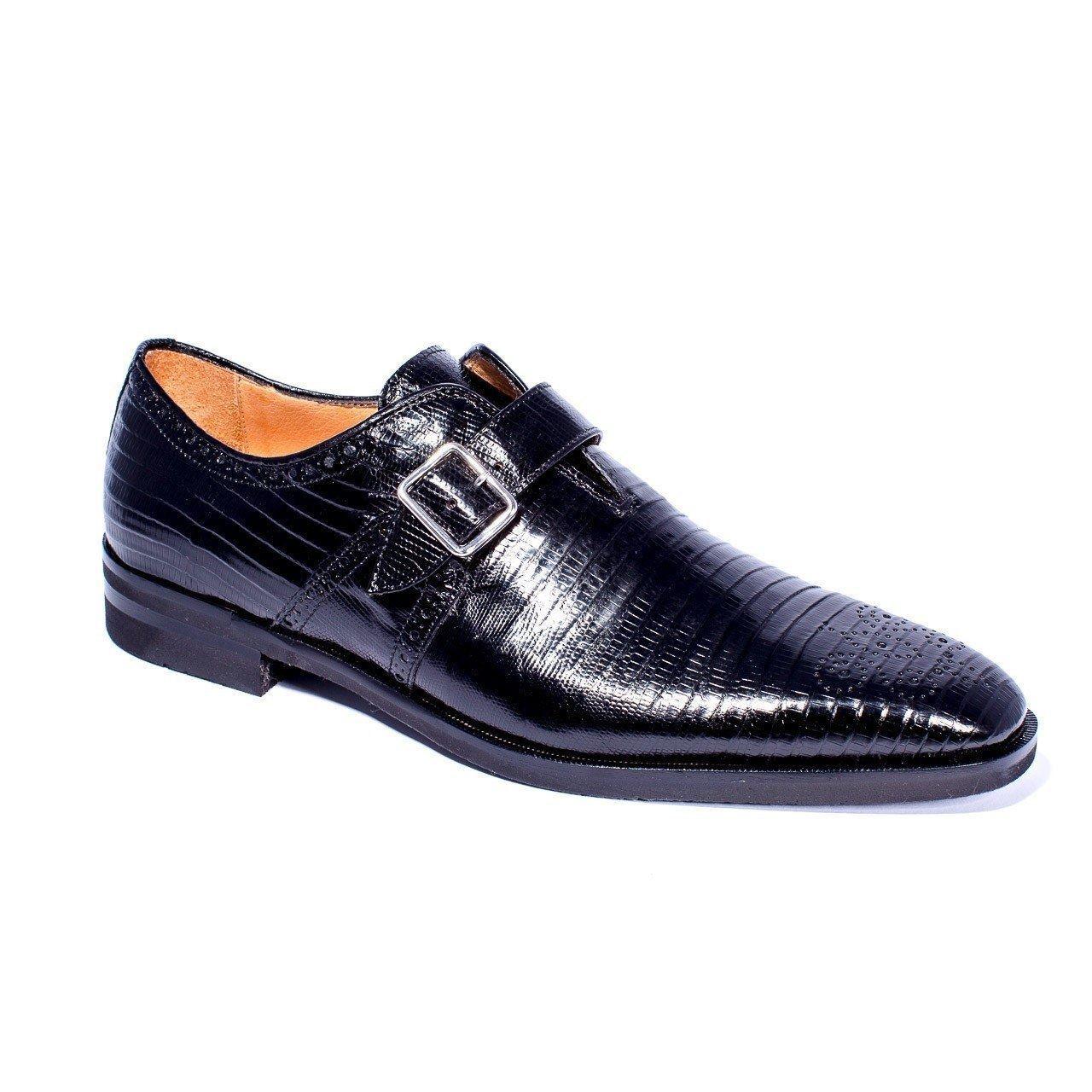 comprare a buon mercato Zelli Antonio nero Lizard Lizard Lizard Monk Strap scarpe  a prezzi accessibili
