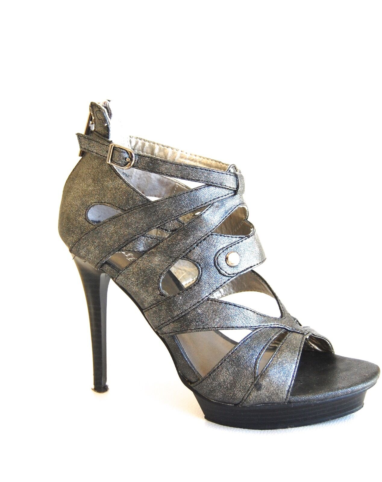 Damens Gladiator Silver Schuhes High Heel Platform Silver Gladiator 424de8