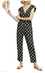 188-Anthropologie-Corey-Lynn-Calter-Small-Polka-Dot-Wrapped-Jumpsuit-Size-XS