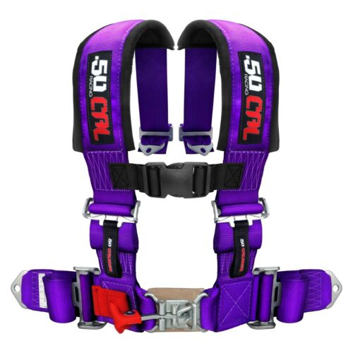 Middle Bump Bench 3rd Seat Purple Safety Harness Polaris RZR XP1000 S 900 Turbo