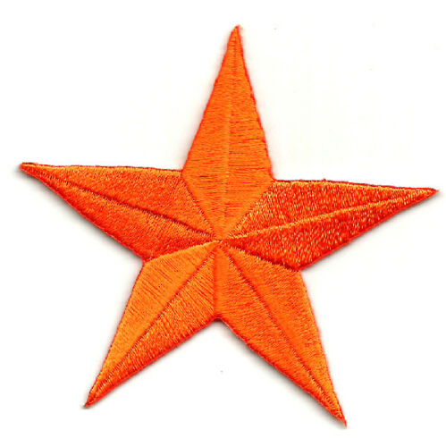 """Orange GENEROUS 3/"""" Embroidered Iron On Patch Star"""