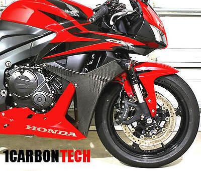2x2 Twill 2007-2012 Honda CBR600RR Carbon Fiber Front Headlight Side Panels