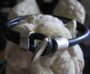 Surfer-Leder-Herren-Armband-schwarz-Herrenarmband-Damen-neu-Unisex-Lederarmband