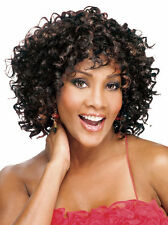 Fashionable Women's Glueless Deep Curly Short Hair Wig for African American Ha38
