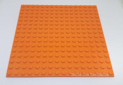 LEGO 1 x ORANGE PLATE Base Board 16x16 Pin 12.8cm x 12.8cm x 0.5cm BRAND NEW