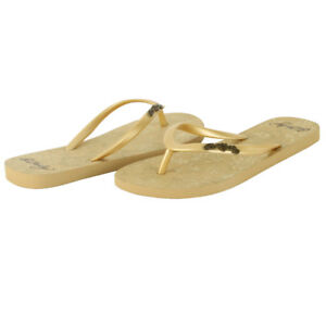 a7165a420f93a8 Image is loading Ed-Hardy-Capistrano-Flip-Flop-for-Women-Gold