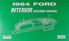 1964 Ford Galaxie Interior Assembly Manual 500 Custom Seats Trim Carpet Top Etc