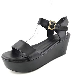97397812238 Kurt Geiger Nia Black Leather Platform Wedge Sandals Women s Size 39 ...