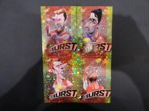 2019 AFL SELECT FOOTY STARS STAR BURST SET OF 4 GOLD COAST SUNS