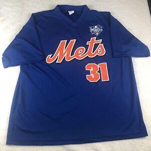 Vintage 2000 Subway Series New York Mets Mike Piazza Jersey Shirt - Men's XL