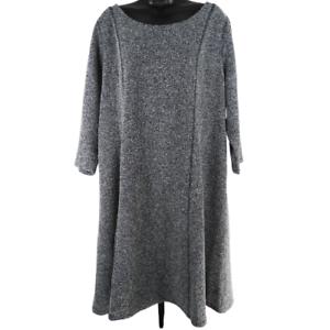 Lane-Bryant-Gray-amp-Black-3-4-Sleeve-Dress-Women-039-s-Size-18-20