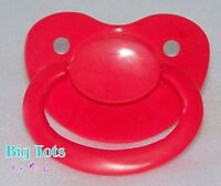 Big Tots Adult Size Bright Red Large Silicone Pacifier(nuk 6) Baby Model
