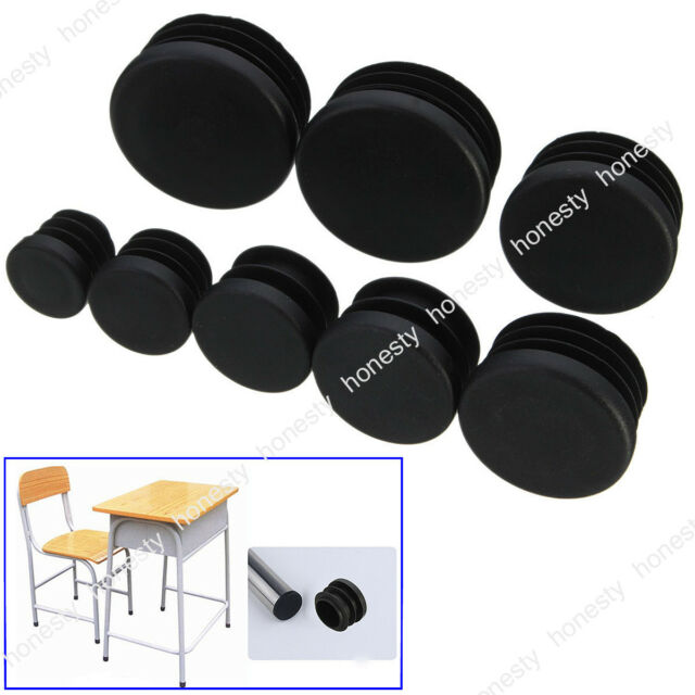 4PCS Round Plastic Chair Leg Glide Cap Plug Tubing Pipe Insert Floor ProtectoTC